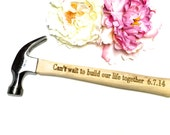 Engraved Hammer gift for him, Engagement gift for him, New father gift, Wedding gift for him, Valentines gift, engraved tool claw hammer