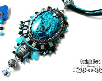 Turquoise and blue jasper necklace