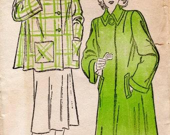 1940s Flared Coat Pattern - Vintage New York 267 - B 32 FF Swing Coat