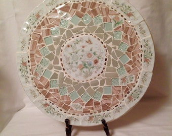 Mosaic Broken China Lazy Susan