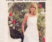 70s Wrap Sundress Pattern Butterick 5369 Vintage Sewing Pattern Size MEDIUM 12-14
