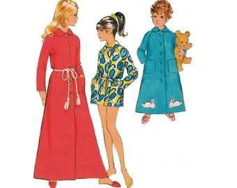 60s Girls Robe Dressing Gown Pattern Style 2627 Vintage Kids Sewing Pattern Size 6 Breast 25 inches