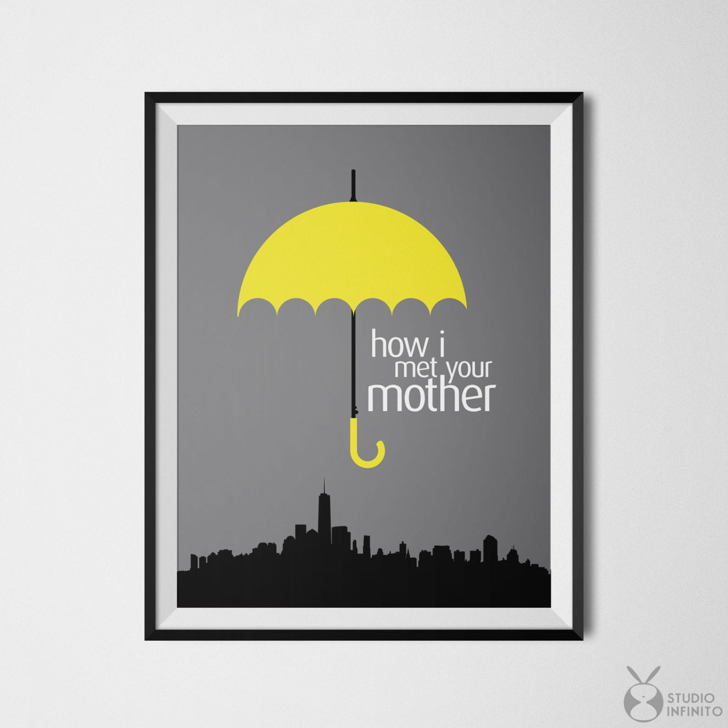 how i met your mother poster print barney stinson ted mosby