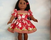 18 inch doll clothes -  Santa Claus Dress made to fit the American Girl Doll - FREE SHIPPING
