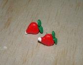 Luna Lovegood Clay Radish Stud Earrings