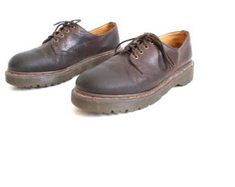 mens size 10 DOC MARTEN brown leather 90s BROGUES 3 eyelets shoes
