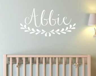 Personalized Vine Name- Vinyl Wall Decal- Custom Name-Nursery Decor- Fancy Name- Personalized Name-Wall Art