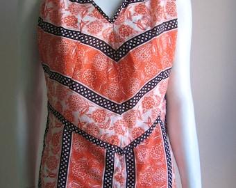 70s vintage polka dress