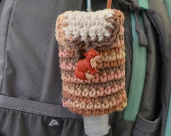 Hand Sanitizer Holder with Clip for Backpack, Diaper Bag or Purse