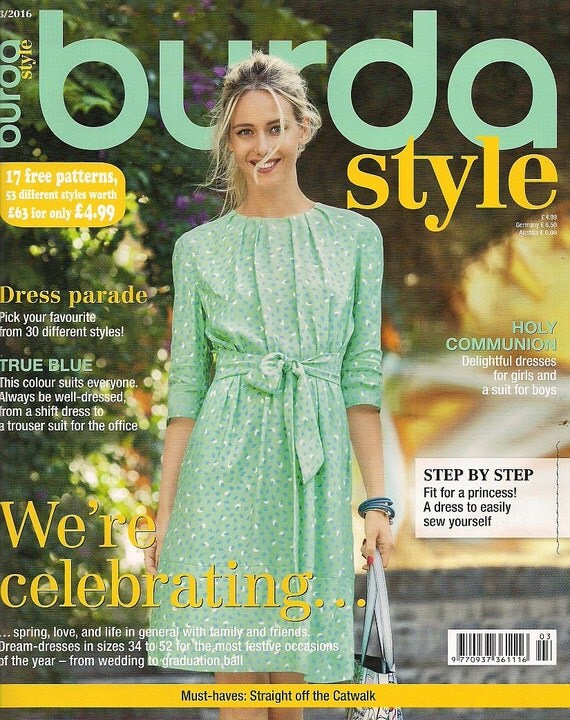Burda Style World Of Fashion March 2016 Patterns For 53