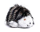 Toy Mommy Hedgehog Art Doll Black Grey Fleck Faux Fur Grey Plush Safe Pram Cot Unisex Toy Adult Companion Stocking Stuffer Christmas Present