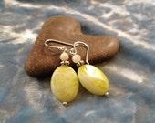 Lime Jade Earrings