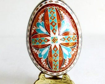 Pysanka easter egg Ukrainian egg hand painted egg with cross