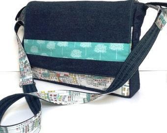 Trendy Messenger Bag PDF Pattern / Tutorial Cross Body Bag
