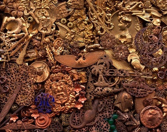 650 Metal Stampings Findings Filigree Beads Pendants Charms Miriam Haskell Antique Vintage Modern