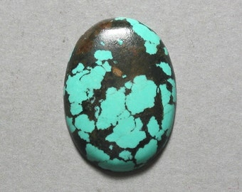 TURQUOISE cabochon blue green oval 22X30mm designer cab