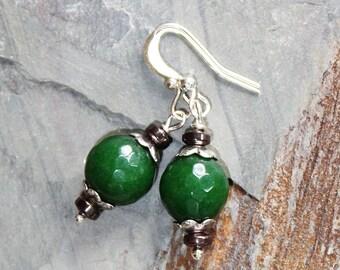 Green Earrings, Jade Earrings, Natural Earrings, Stone Earrings, Beaded Earrings, Handmade Earrings, Jade Jewelry, Spring Earrings