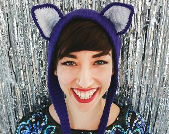 Berry Purple Kitten Ears Headband
