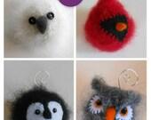 PDF-P A T T E R N. A Knit & Felt Wool Holiday Bird Ornaments Downloadable PDF Pattern
