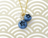 Blueberry Necklace Gold