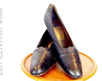 Rare Antique Shoes by Court Shoemaker Peter Yapp. Edwardian. 1900.