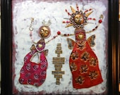 Mixed Media Mosaic Wall Art Inspiration Altar - Do Not Grow a Wishbone, Daughter
