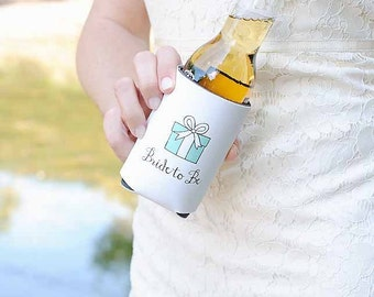Bride to Be Can Can Coolers - Engagement Gift, Bridal Shower Gift, Wedding Shower Gift, Beer Huggers, Beverage Insulators, Stubby Holders