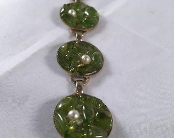Vintage Green Rock Bracelet