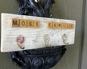 Rustic Key Rack ~ Personalized Wall Key Hanger~ Upcycled Key Holder ~ Hand Stamped Keys