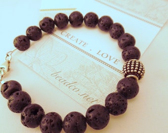 Lava & Sterling Bracelet. I LAVA YOU. Someone to LAVA. Men's or Women's. Grads and Dads!