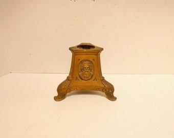 Vintage French Bronze Ormolu Religious Base Pedestal