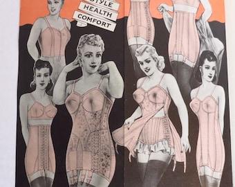 Vintage NOS NuBone Corsetiere Lingerie Advertising Pamphlets
