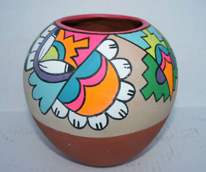 large jemez poster paint pottery olla vase jar pueblo tourist
