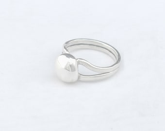 Sterling Silver Ball Ring Size 5.75 in Stock or Any Size Made to Order