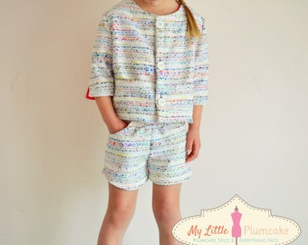 Girl Sewing Pattern - Jacket - Capsule Wardrobe PDF Pattern
