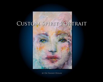 Custom SPIRIT PORTRAIT Painting! Custom Portrait, Your Spirit Aura by Fae Factory Visionary Artist Dr Franky Dolan: Family, Psychic Painting