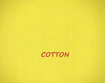 Yellow Solid, Linen Woven Cotton, Craft or Fashion or Quilting Fabric, Medium Weight, 18 x 44, B44