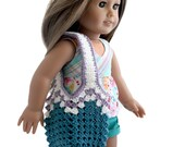 "Download Now - CROCHET PATTERN 18"" Doll Crochet Beach Bag Pattern"