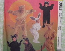 Easy to Sew Adults Animal Costumes Size Small UNCUT McCalls Pattern 8953 Halloween Cosplay Dress-Up