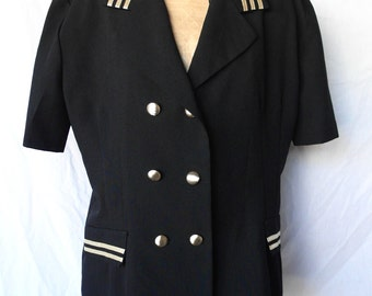 80's Black & Gold Blazer by Dress Savvy