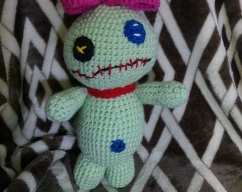 Crochet Scrump doll Lilo ans Stitch inspired