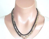 SHOP CLOSING SALE: Ashira Lemon Quartz Black Spinel Statement Necklace with Charms