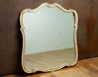 XL Gilt White Hollywood Regency Wall Mirror