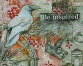 BE INSPIRED Mixed Media Art Print