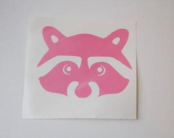 Raccoon Vinyl Decal - Raccoon Sticker - Vinyl - Sticker - Car Decal