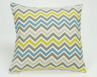 Zoom Zoom Summerland Chevron Pillow Cover - 16 inch