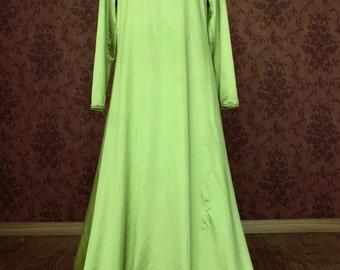 Medieval fantasy tunic dress shirt green apple