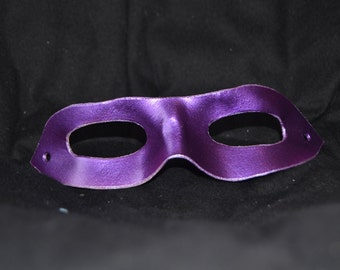 Purple leather superhero mask