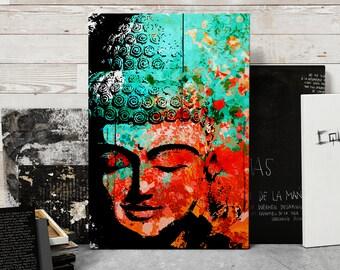 Buddha, Zen Decor, Large Canvas Art, Buddha Wall Art, Yoga studio decor, Meditation art, Beach Decor, Coastal Decor, Canvas Print, 24x36 art