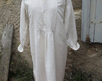 Vintage French linen chemise dating from the late 1800s